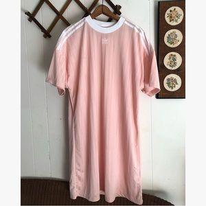 Adidas • Pink Trefoil Jersey Dress
